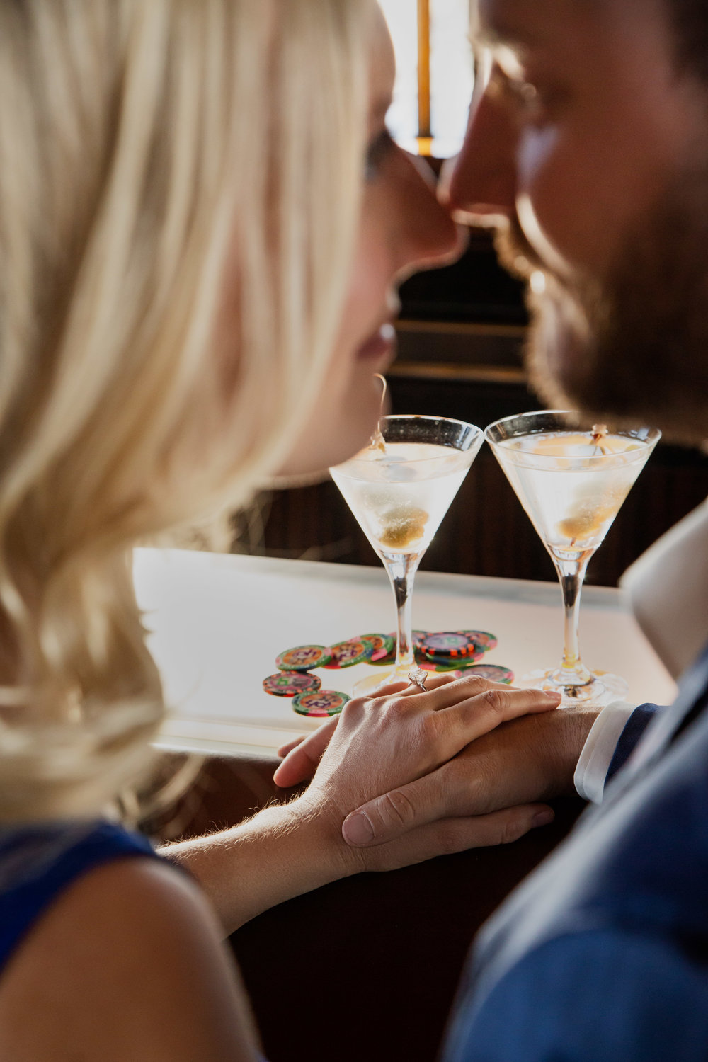 Engagement photos and cocktails.