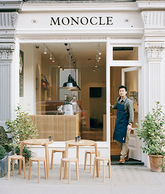 "Monocle goes beyond the printed form with an app ""Monocle 24"" and even a few cafes where subscribers have access to private areas."