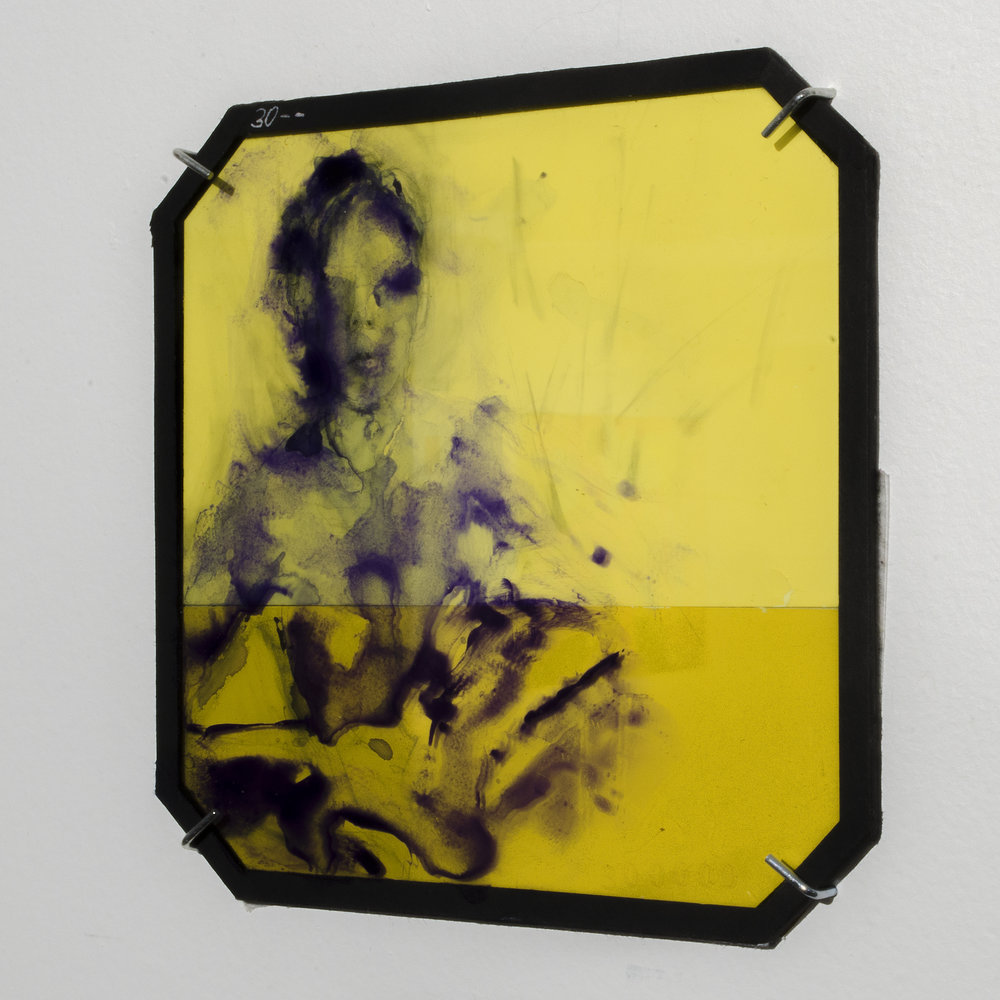 "Installation Shot of ""Cold Yellow"", Glass Series"