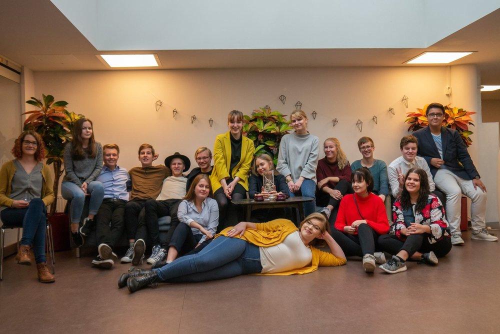 Kuva maakunnallisten nuorisovaltuustojen ensimmäisestä verkostotapaamisesta, joka järjestettiin 6.10.2018 Helsingissä.