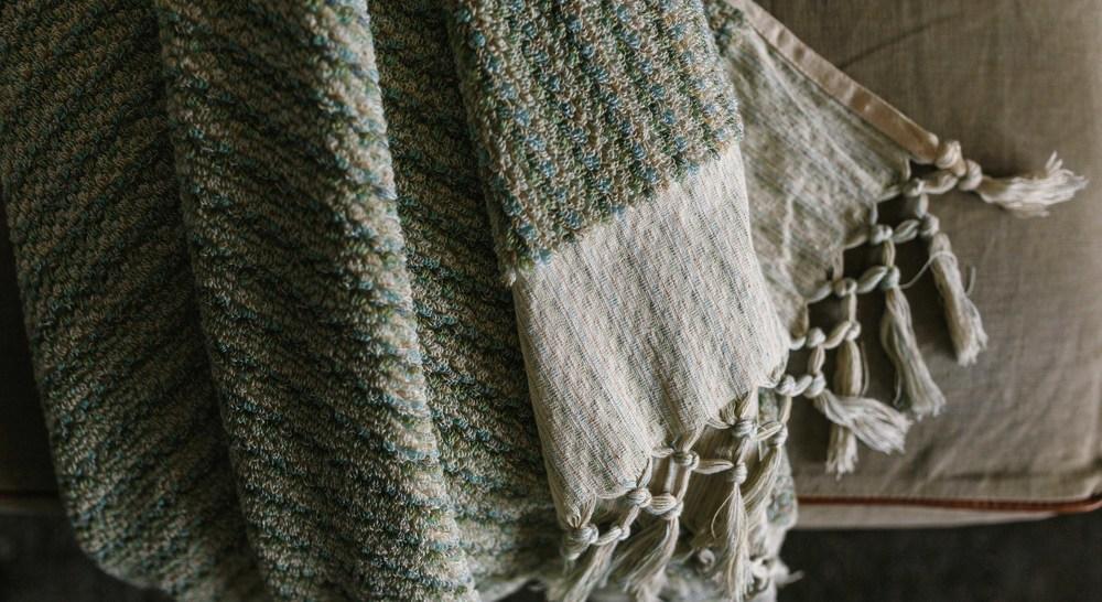 Coastal Wave bath towel by Loom Towels.