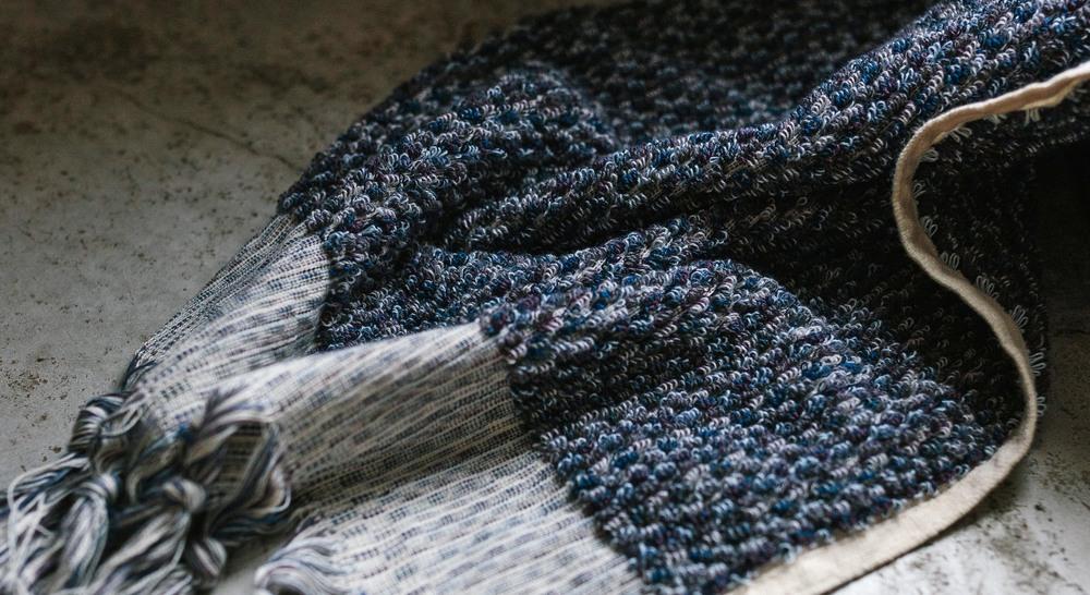 Iris Wave hand towel by Loom Towels