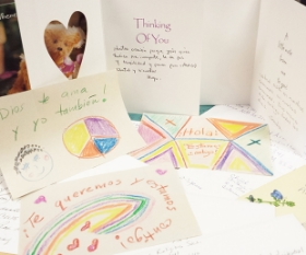 Cards completed by parishioners at Park Avenue Christian Church in Manhattan, NY. Photo: Will Haney
