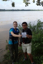 Lauren Kabat with Peru partner, APECA