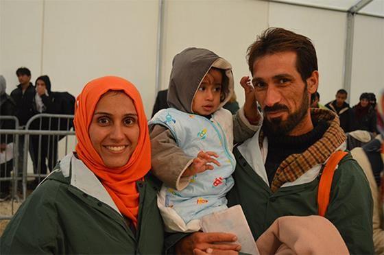 A refugee family in Presevo Serbia. Photo: Jovana Savic/CWS
