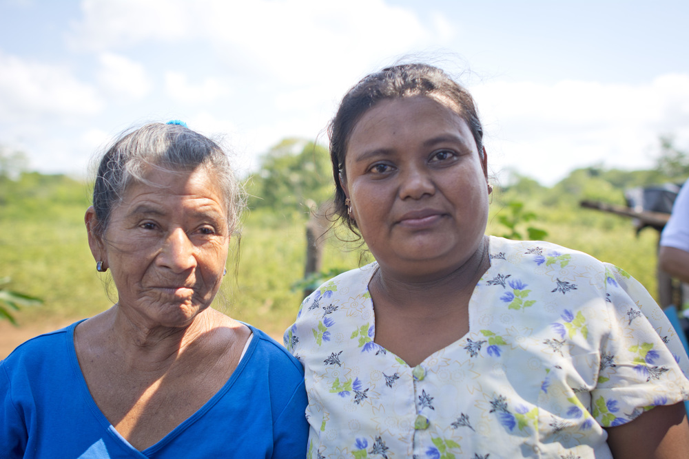 Adela with Rosa, the community leader of La Pita.