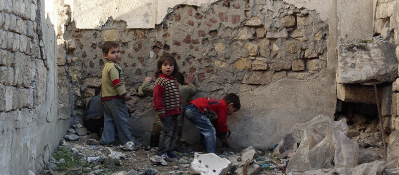 Children in Aleppo, Syria