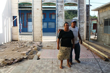 Julio's and Belkis' destroyed home in Punta Alegre.  Credit: Cuban Council of Churches