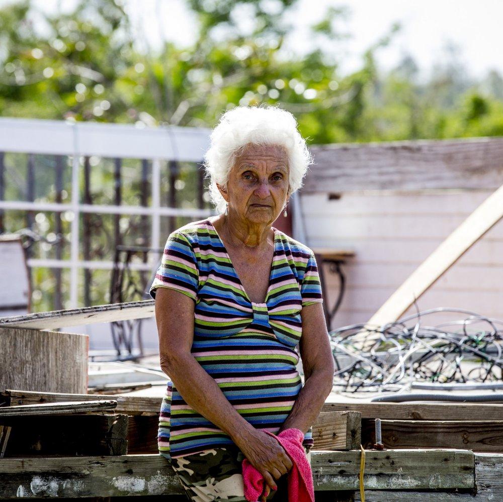 Photo credit: Craig Thompson   Through the Programa Edifiquemos of the Iglesia Cristiana (Discipulos de Cristo) en Puerto Rico, Week of Compassion is helping rebuild homes for people like Mrs. Trinidad.