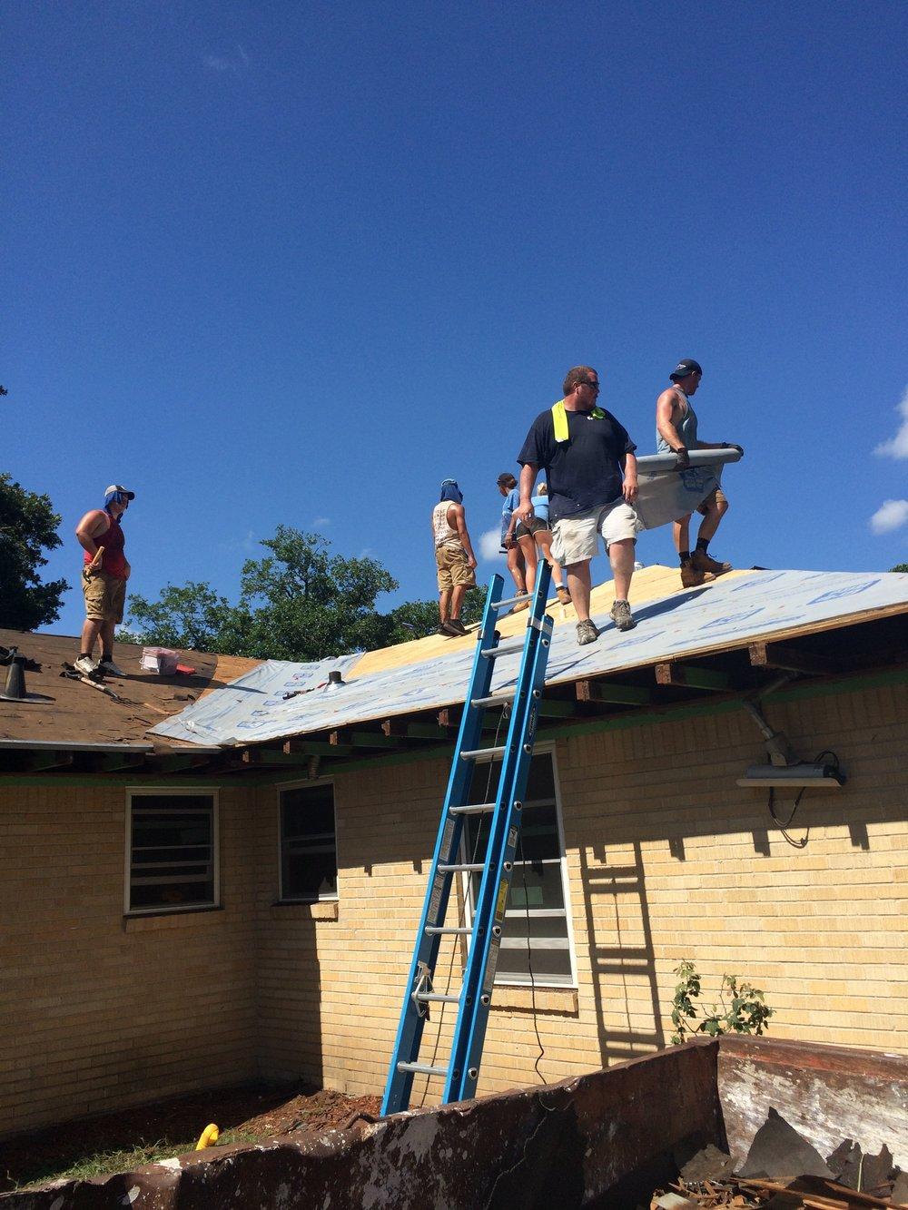 Photo credit: Disciples Volunteering   Volunteer teams at the Disciples Volunteering Mission Station in Texas City are repairing homes damaged by Hurricane Harvey in Galveston County, TX.