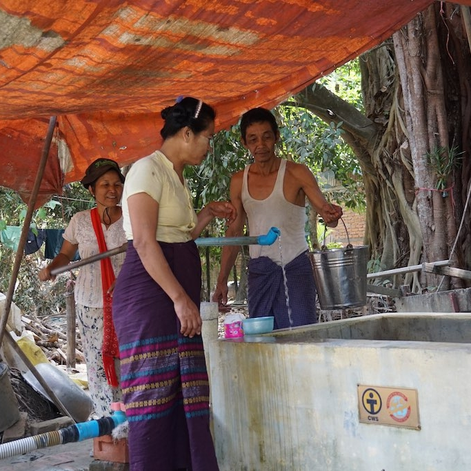 Photo credit: CWS   Wells in Cambodia help prevent contamination of the water supply, promoting health and hygiene.