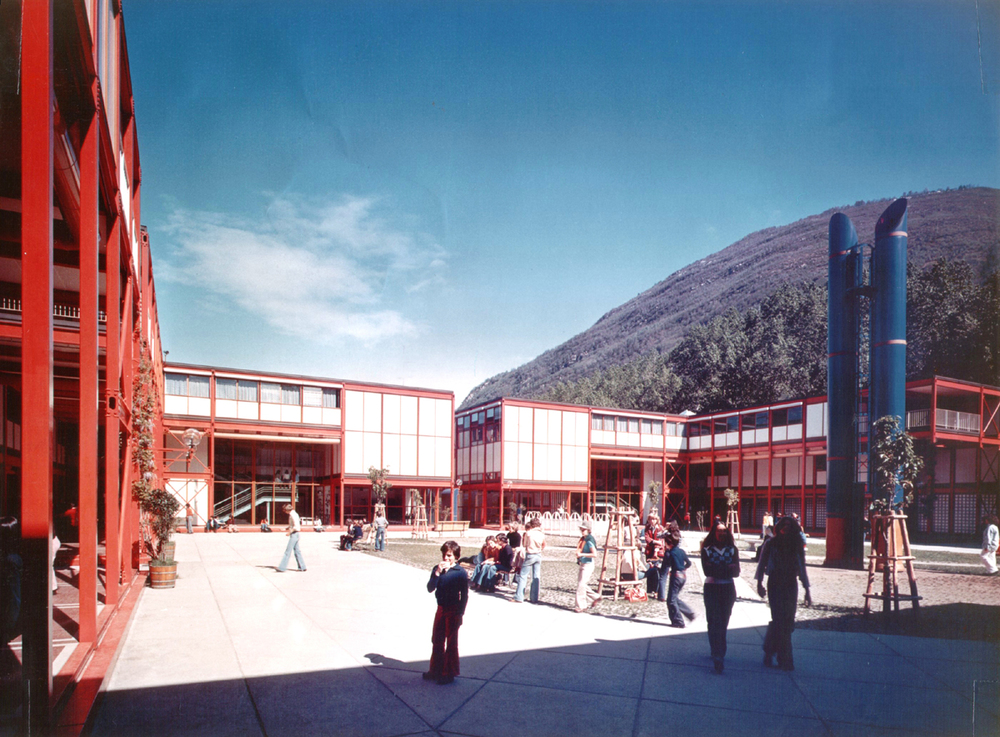 Secondary School, Losone, Switzerland, 1973-75 Livio Vacchini with Aurelio Galfetti