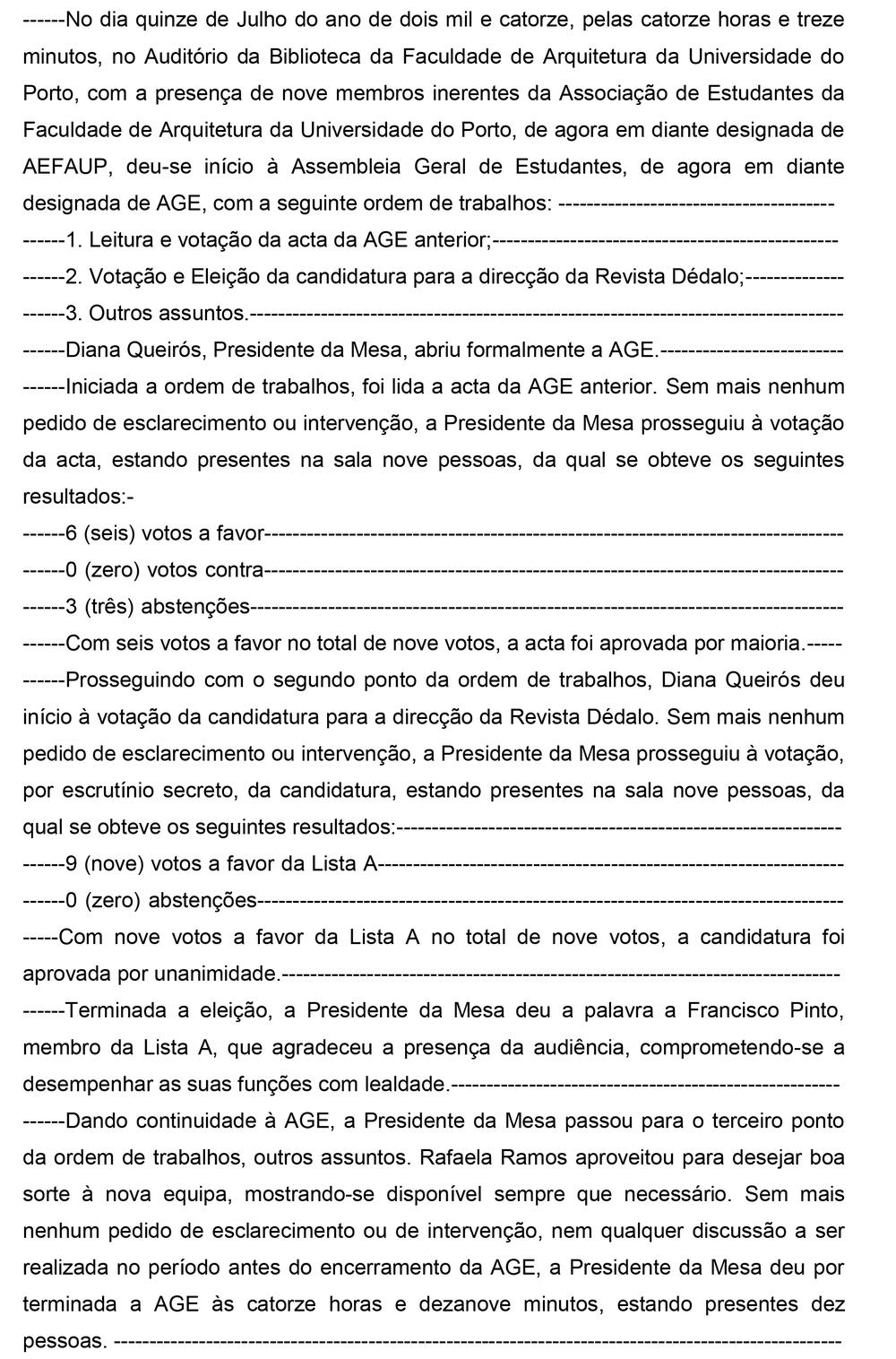 Acta 15 de Julho de 2014 - Votação e Eleição da candidatura para a direcção da Revista Dédalo -1.jpg