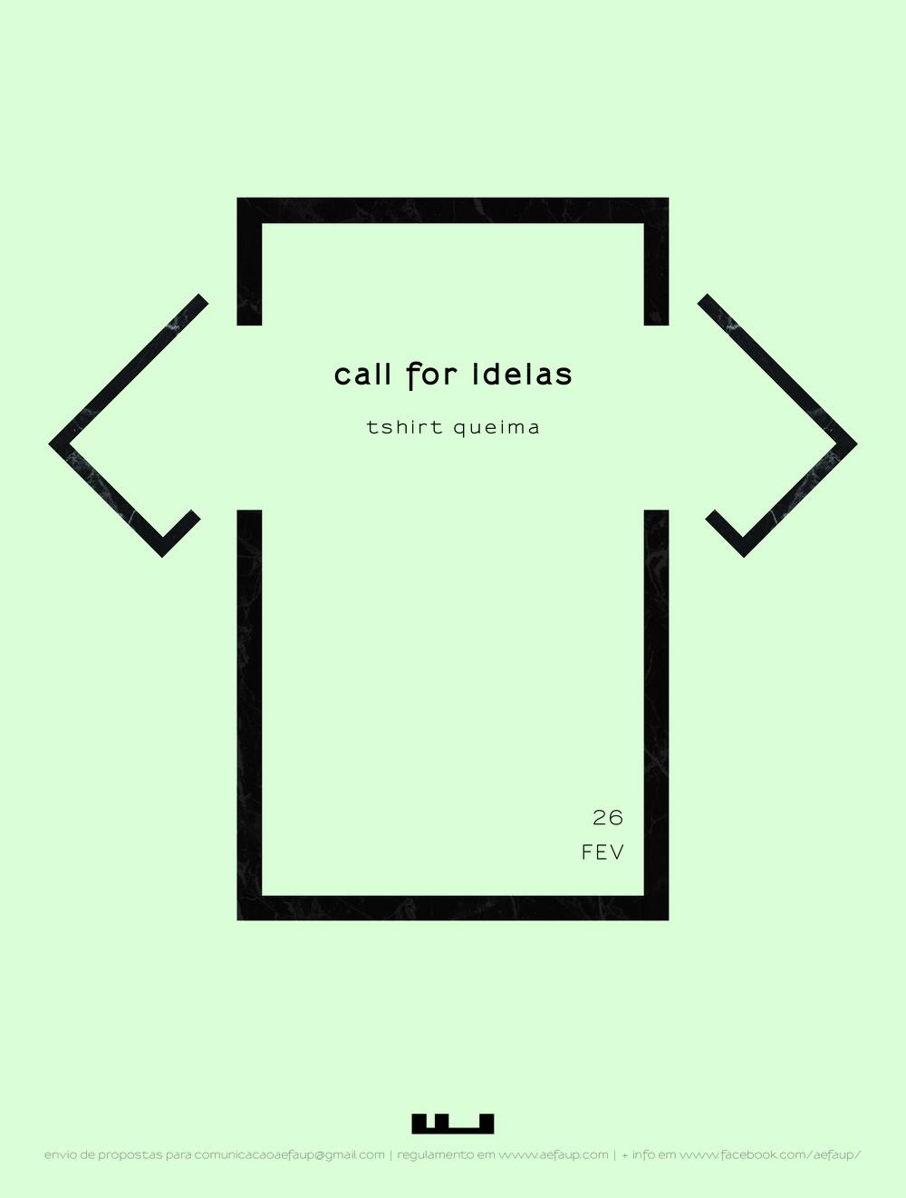 CALL FOR IDEIAS | TSHIRT QUEIMA