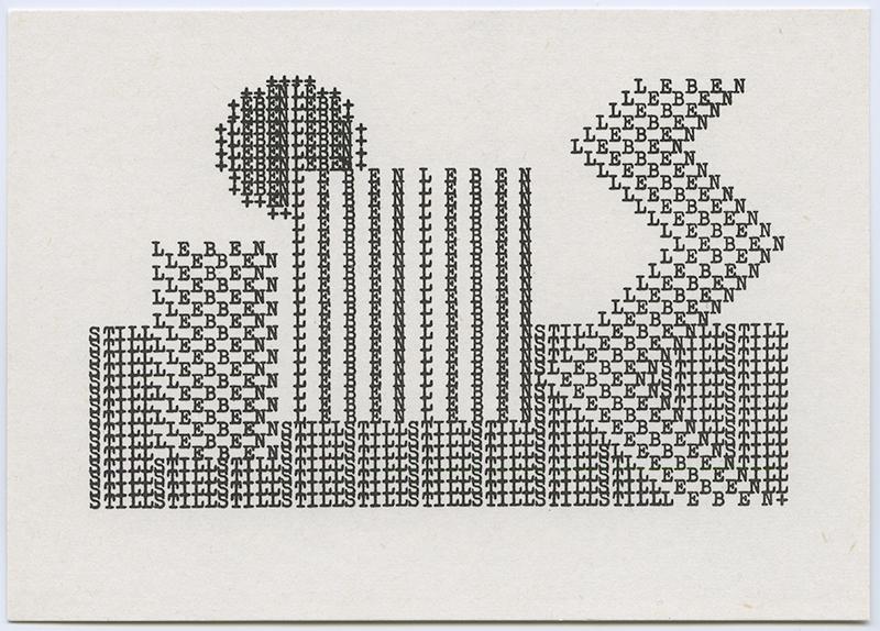 Still Leben II, 1970's