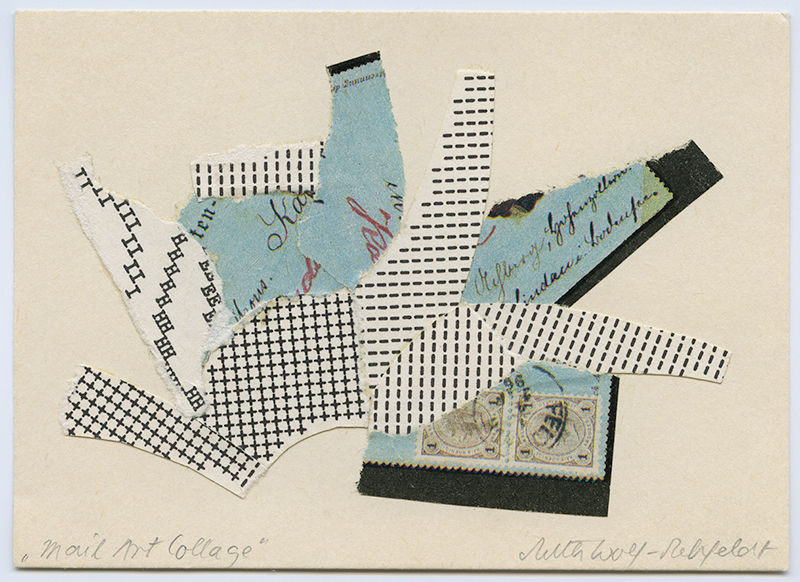 Mail Art Collage  (triptych), 1980's