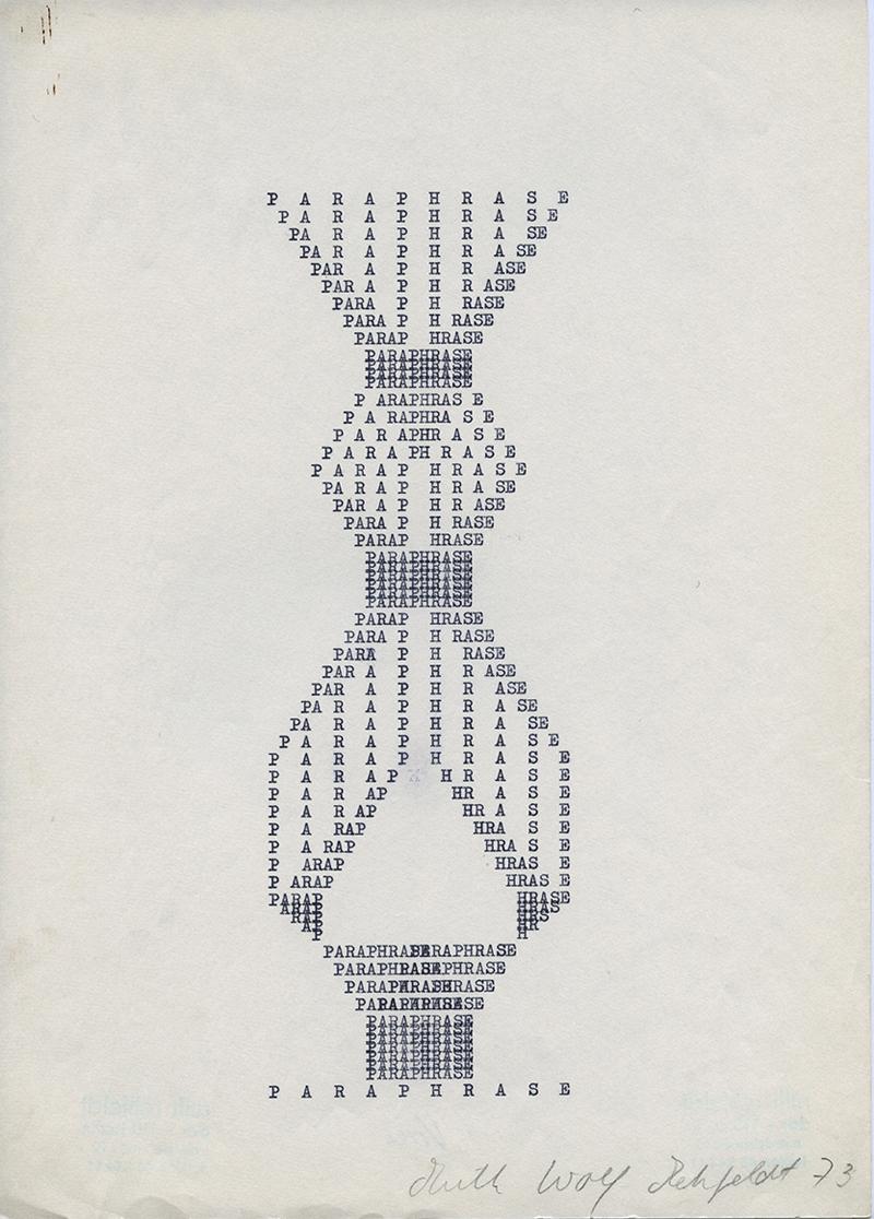 Paraphrase, 1973