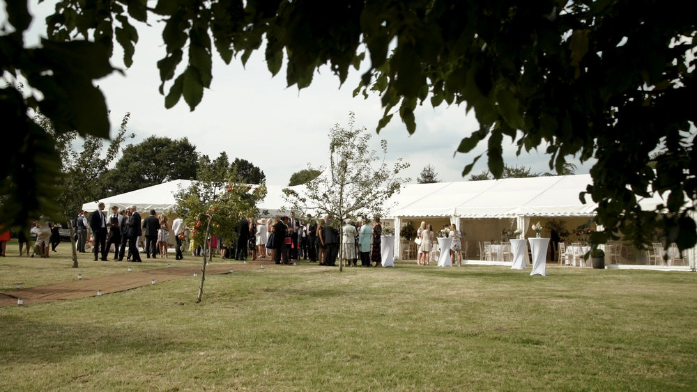 Summer marquee wedding in Dorset, UK