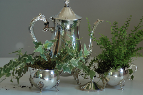 Leonard Silver Plated Tea Set & Leonard Silver Plated Tea Set \u2014 Grey Ginkgo