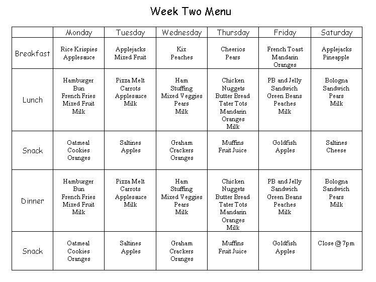 Weekly Calendar Breakfast Lunch Dinner : Breakfast lunch dinner menu for weekly search results