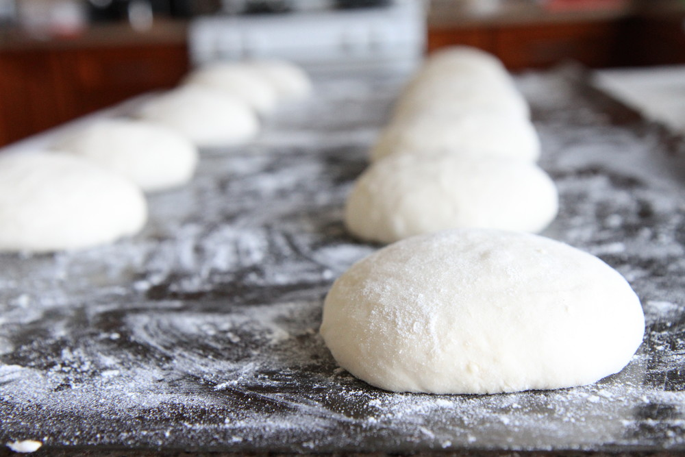 Divide the dough into equal parts