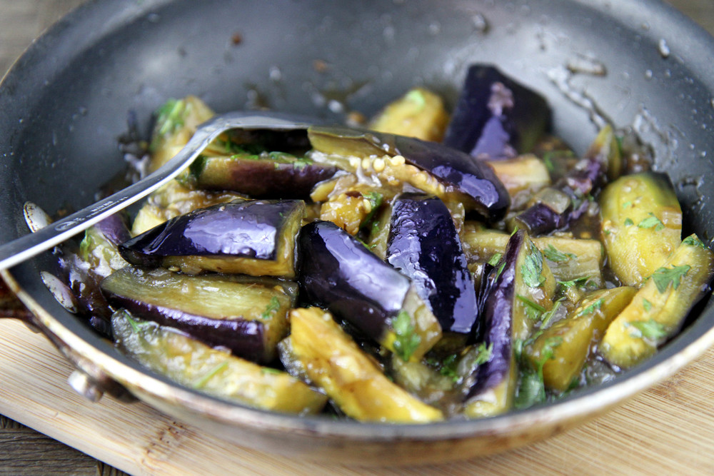 Stir-Fried Eggplant with Black Bean Sauce