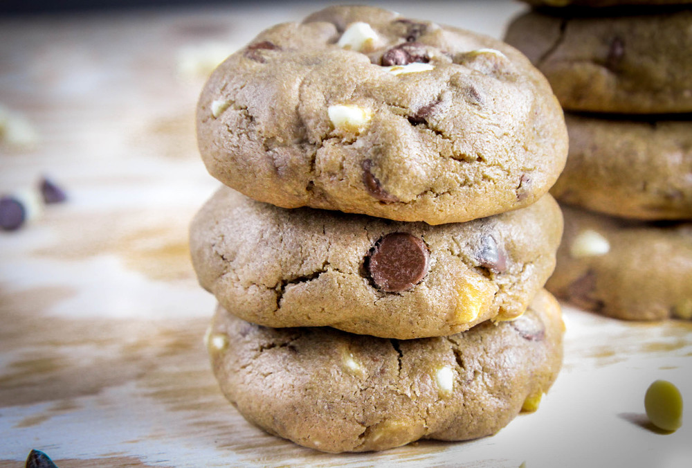 soft chewy peanut butter white chocolate chip cookie