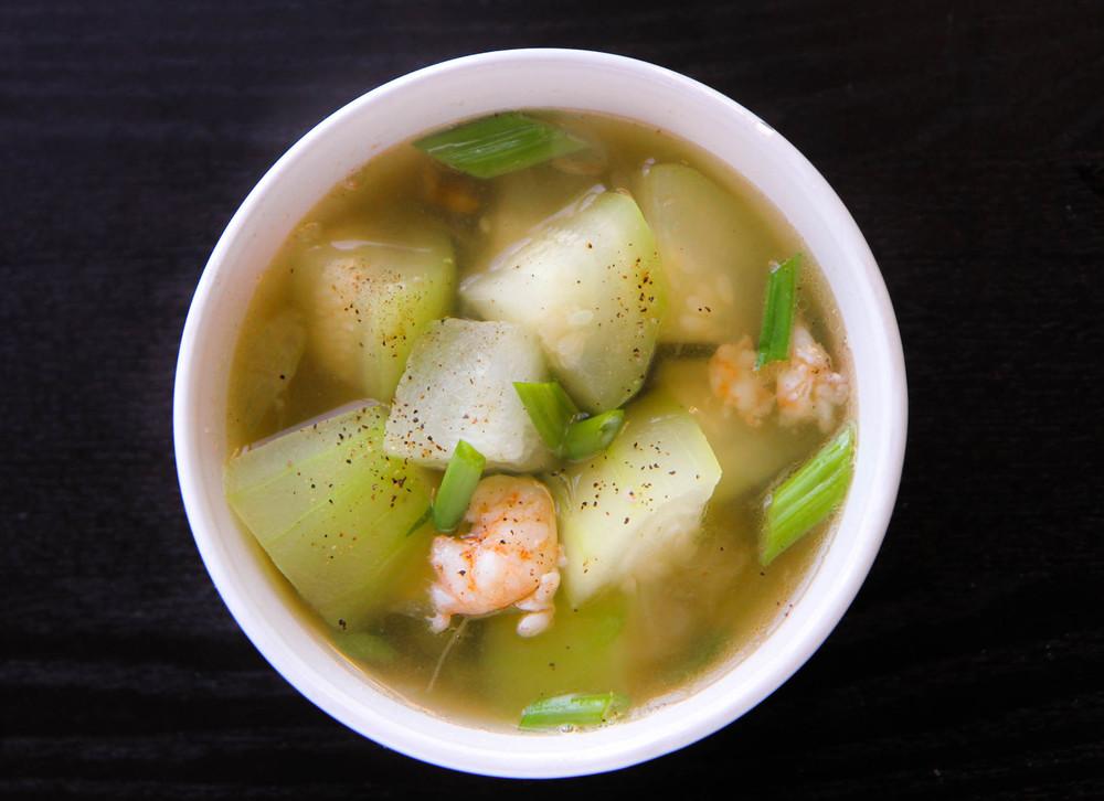 Winter Melon Soup with Shrimp (Canh Bi Dao Tom) — Vicky Pham