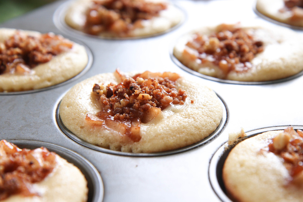 Apple Pie Cupcakes with Toasted Topping Crumble