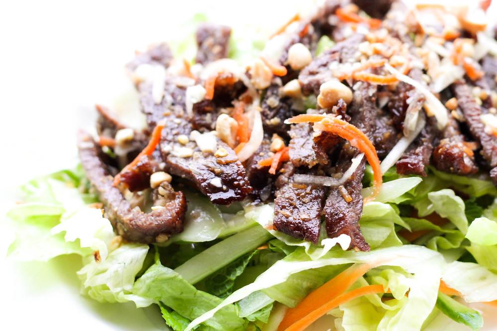 Grilled Lemongrass Beef Salad