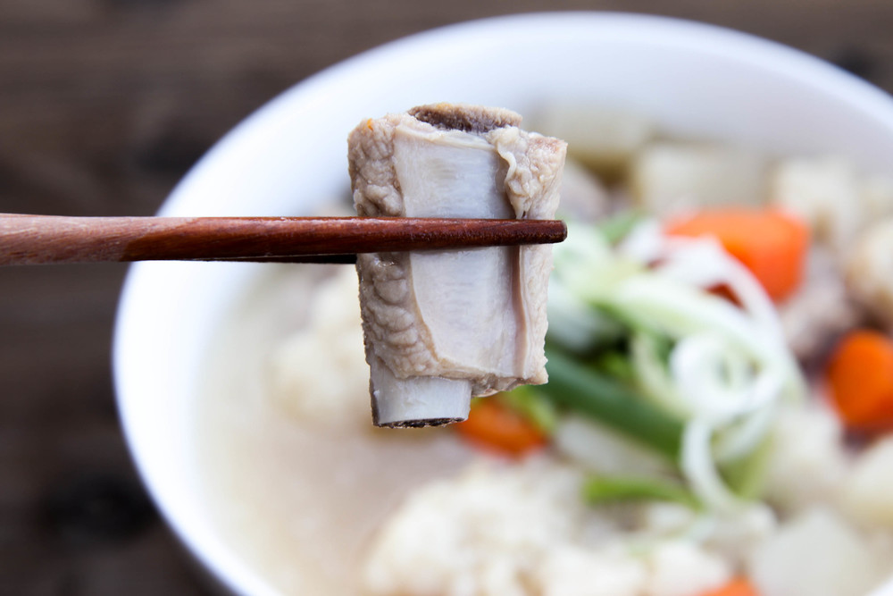 Vietnamese Pork Spare Rib Potato Soup, (also known as  Canh Suon Khoai Tay  in Vietnamese)