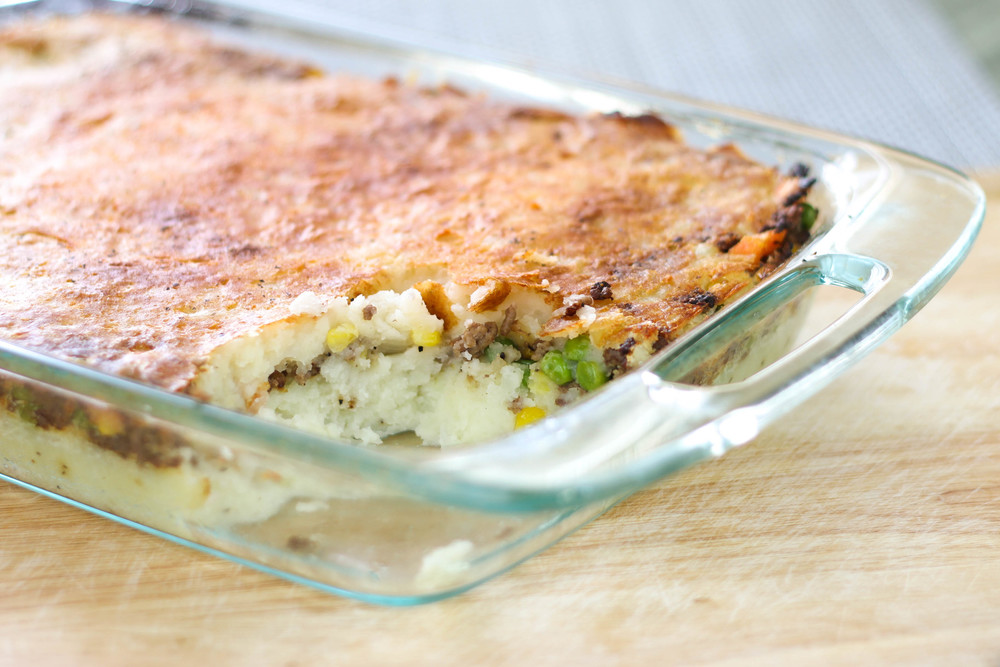 Creamy Garlic Mashed Potato Casserole