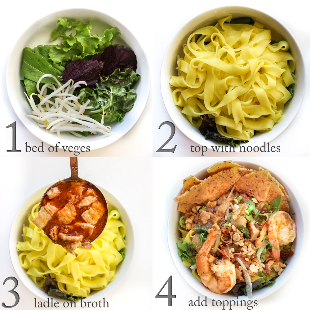 How to Serve a Bowl of Quang-Style Noodles
