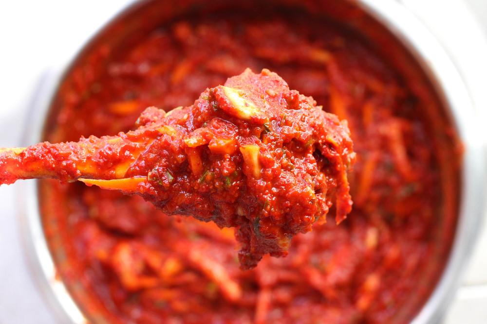 Finished kimchi paste