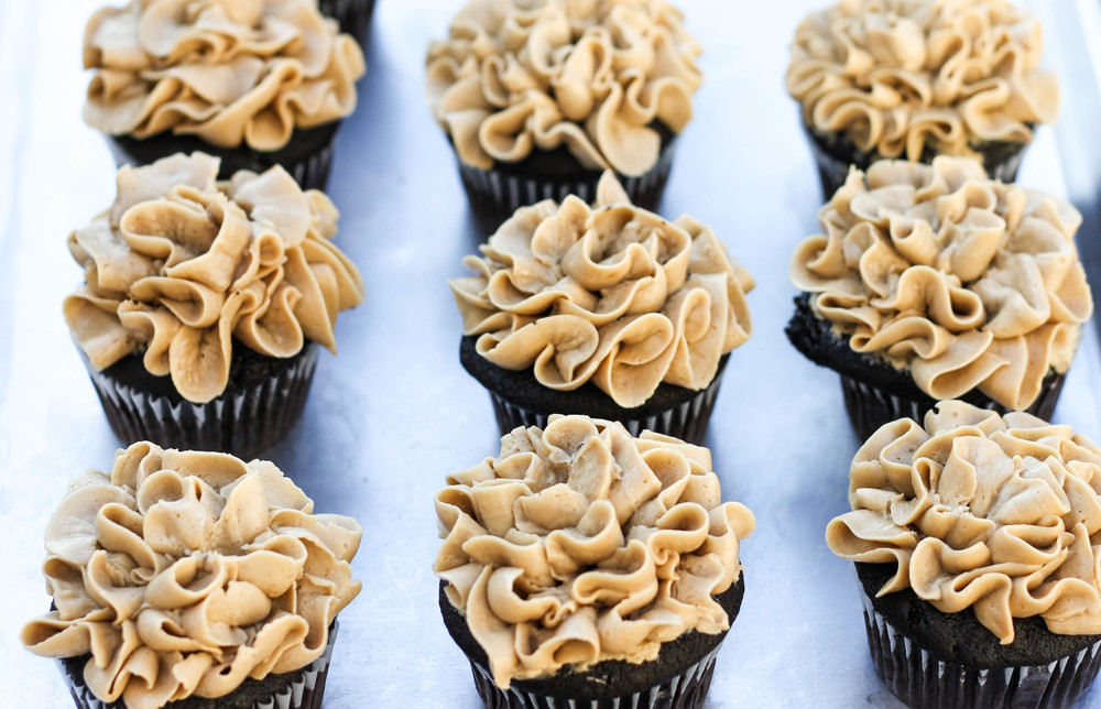 Mocha/Coffee Cupcake with Swiss Meringue Coffee Frosting