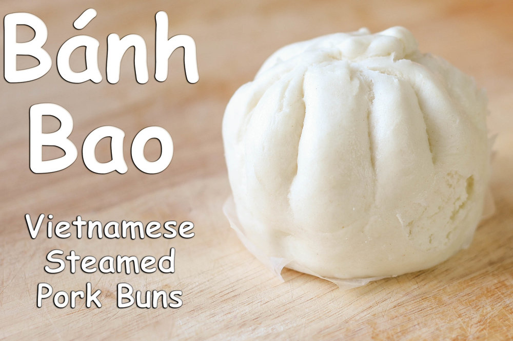 Vietnamese steamed pork buns recipe banh bao