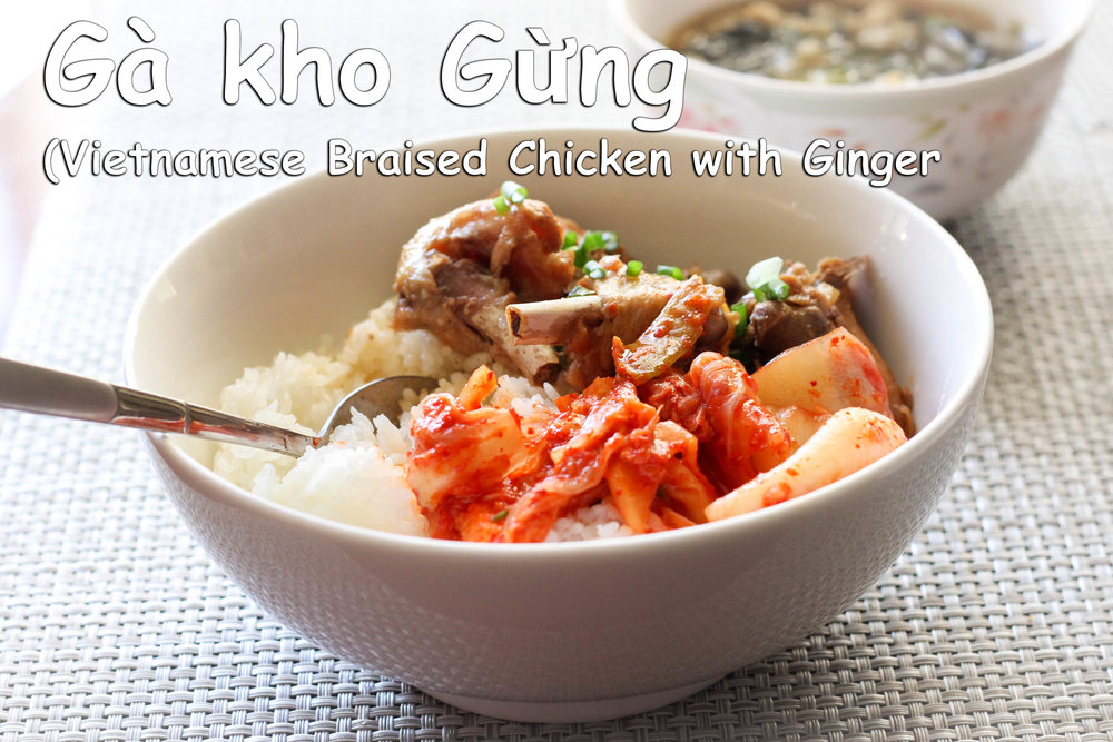 ga kho gung vietnamese braised chicken with ginger