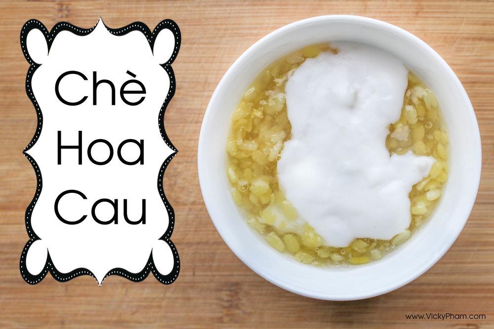 Vietnamese Mung Bean Pudding Che Hoa Cau
