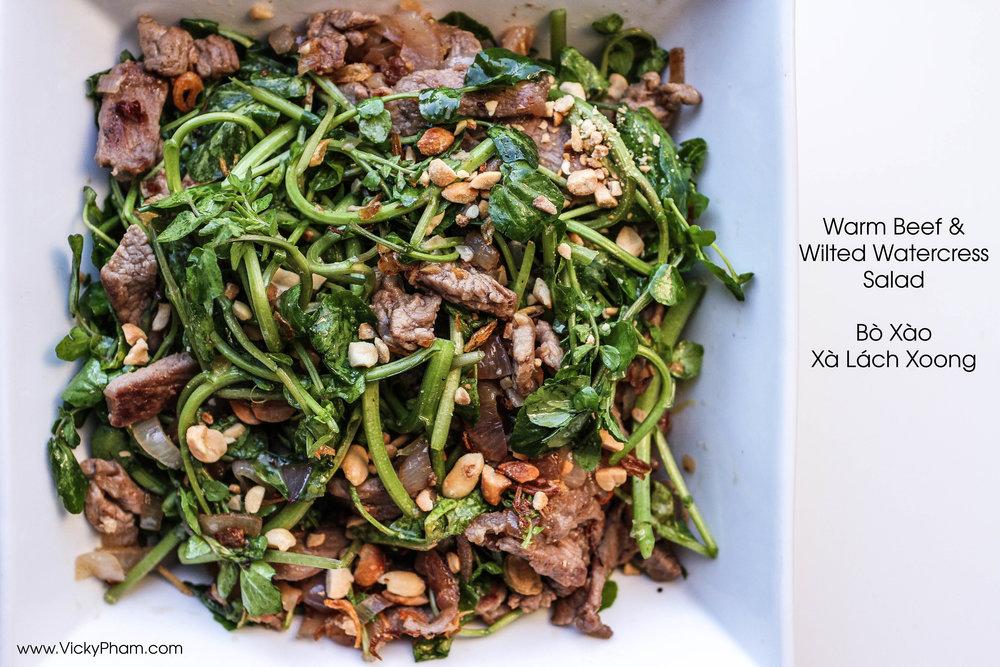 Vietnamese Beef & Watercress Salad (Bò Xào Xà Lách Xoong)