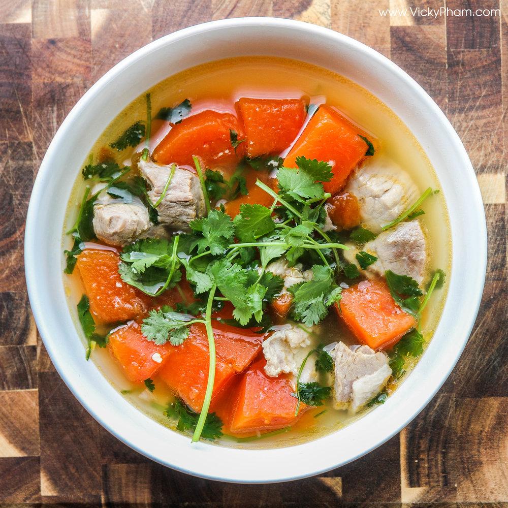vietnamese papaya soup canh du du