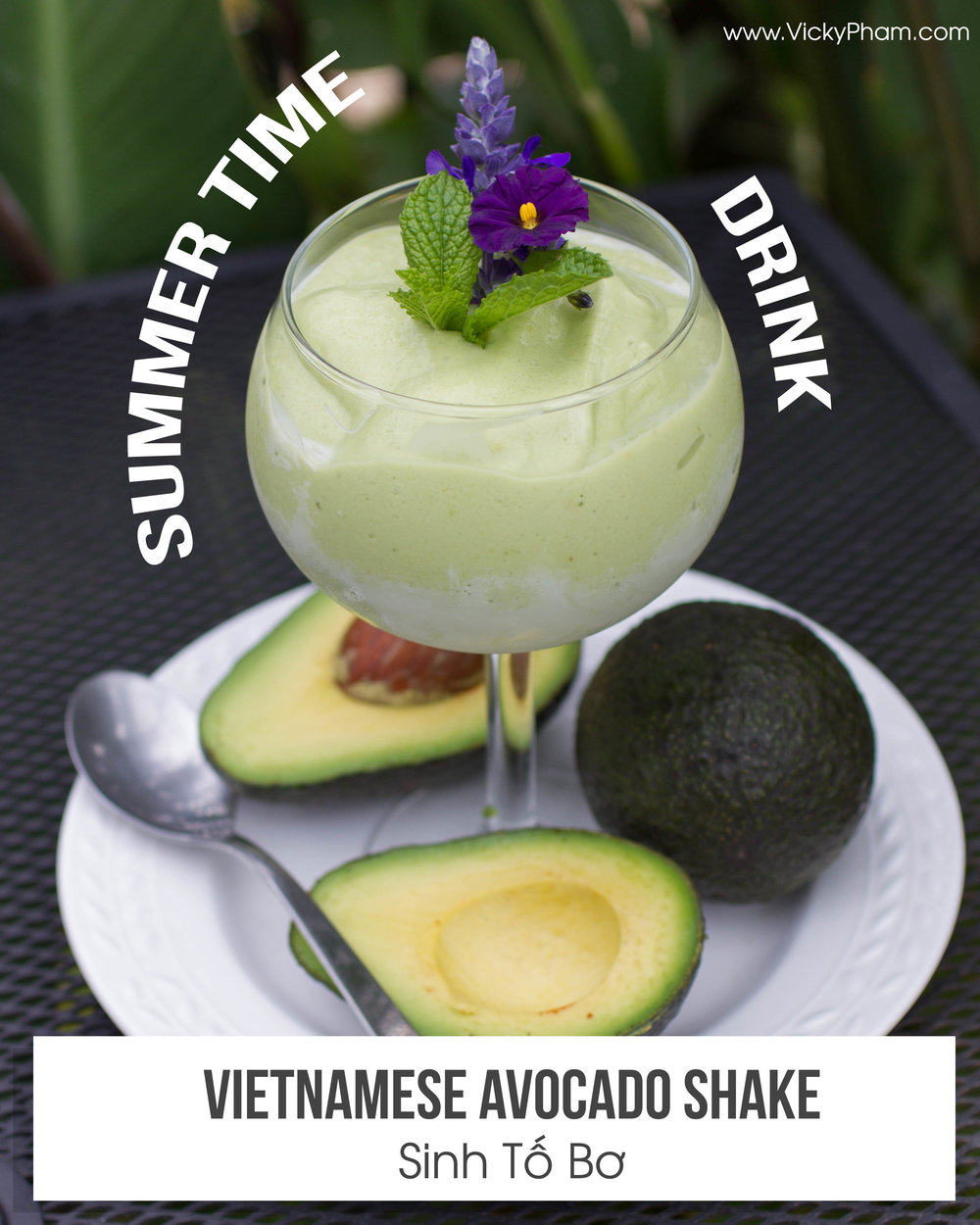 sinh to bo recipe Vietnamese summertime drink