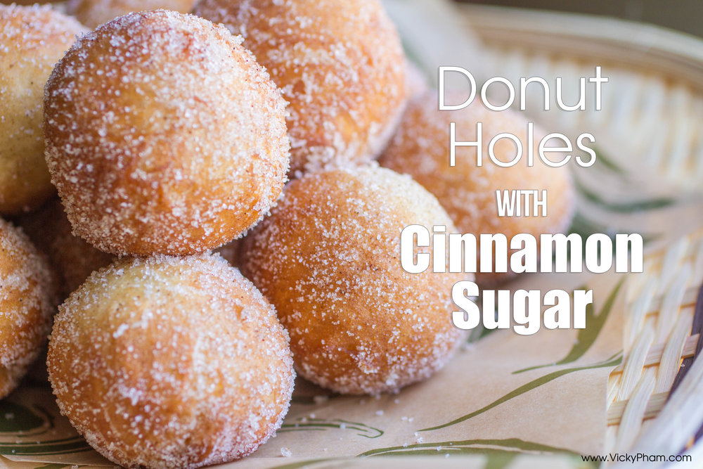 Modified Bánh Tiêu Recipe: Vietnamese Fried Donut Holes with Cinnamon Sugar