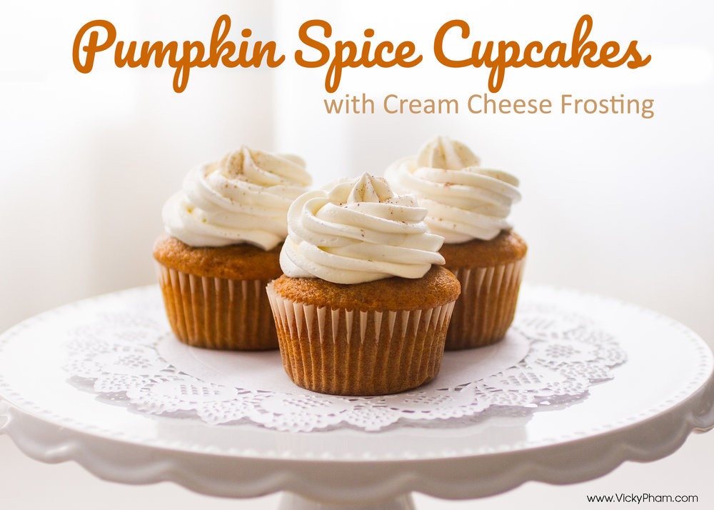 Looking for a homemade holiday dessert? Look no more! Pumpkin Spice Cupcakes with Cream Cheese Frosting.