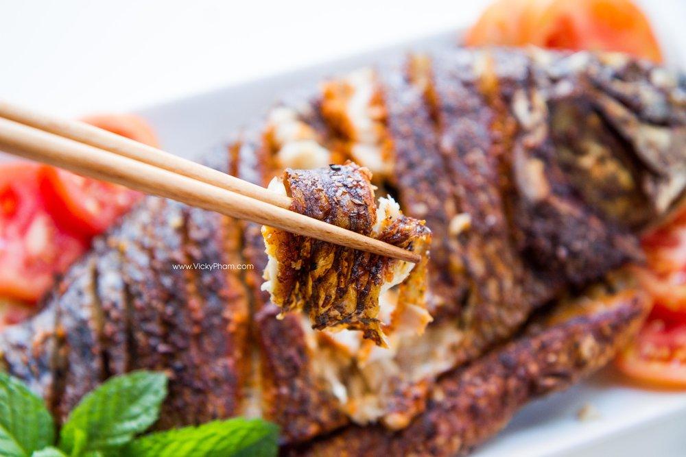 Vietnamese Fried Fish with Lemongrass (Ca Chien Xa)