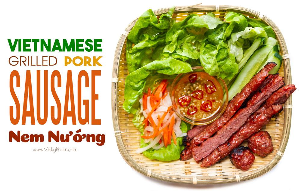 Vietnamese Grilled Pork Sausage  (Nem Nướng)
