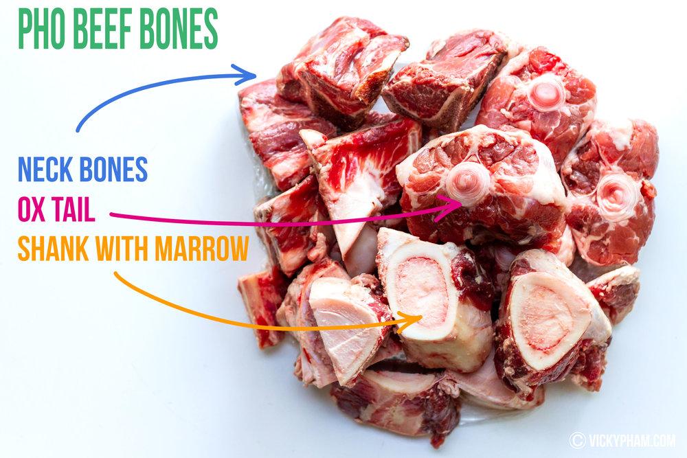 Beef Bones for Vietnamese Beef Noodle Soup (Pho Bo)