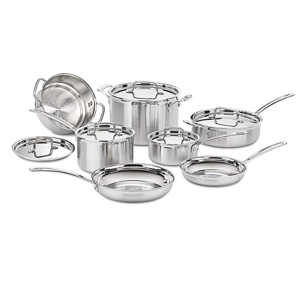 Cuisinart Stainless Steel 12-Piece Cookware Set    BUY NOW