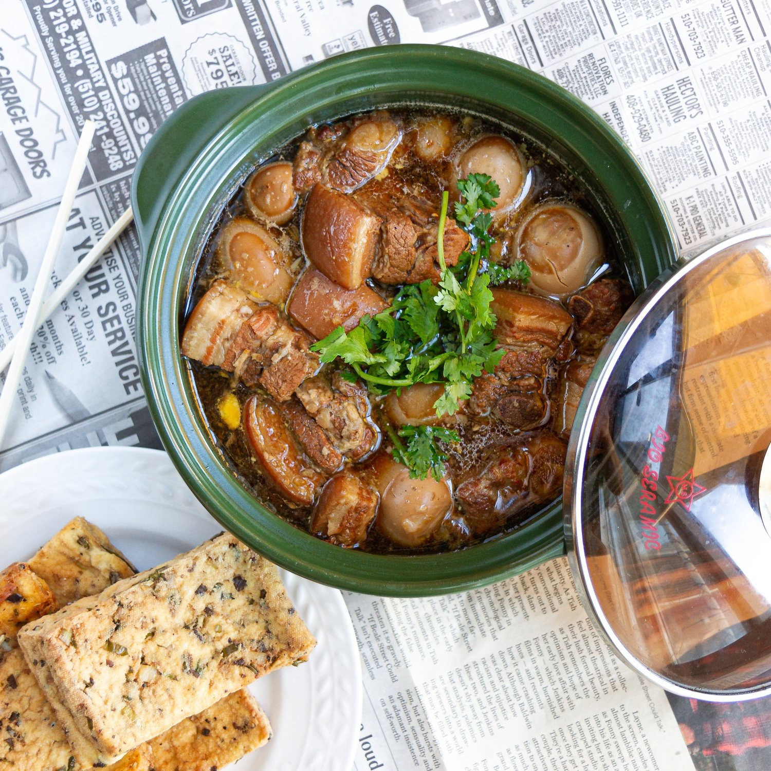 Vietnamese Caramelized and Braised Pork Belly with Eggs (Thit Kho
