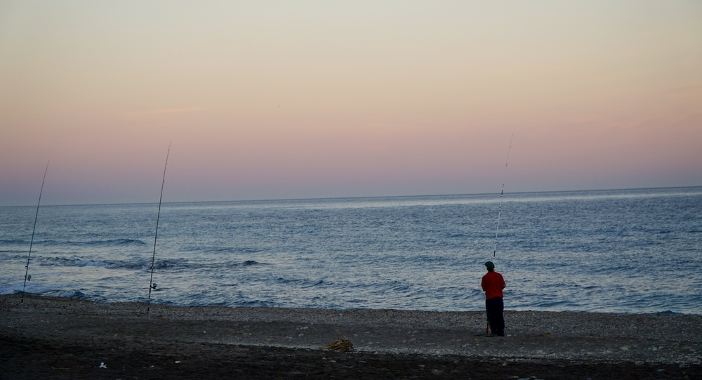 Mojacar beach and its fishermen