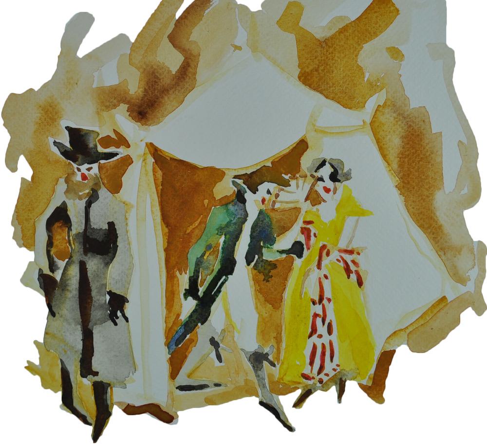 Sketch for Garsington's Opera's 2016 stole collection